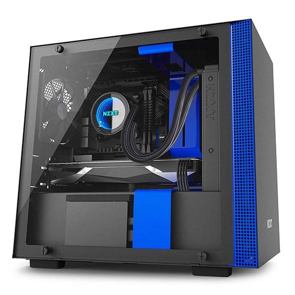 Caja PC Mini ITX NZXT H200i Azul/Negro Mate
