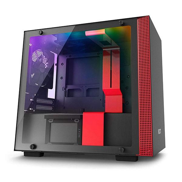 Caja PC Mini ITX NZXT H200i Rojo/Negro Mate