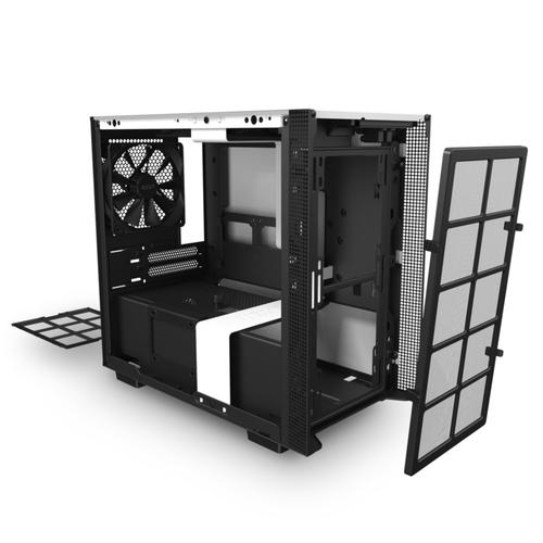 Caja PC Mini ITX NZXT H210 Blanco-Negro Mate