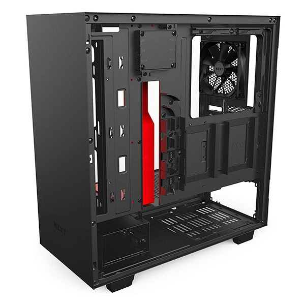 Caja PC ATX NZXT H500i Negro Mate Rojo