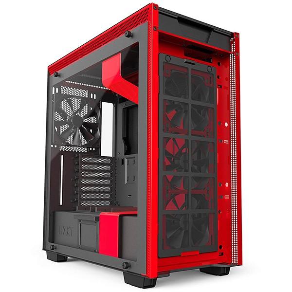 Caja PC ATX NZXT H700i RGB Negro/Rojo Mate