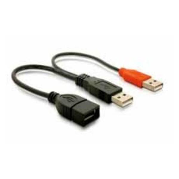 Nano Cable - Cable USB 2.0 + Alim, 15 cm