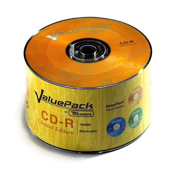 CD-R 52x 700MB Traxdata ValuePack Bobina 50 uds (Ed. Limitada)