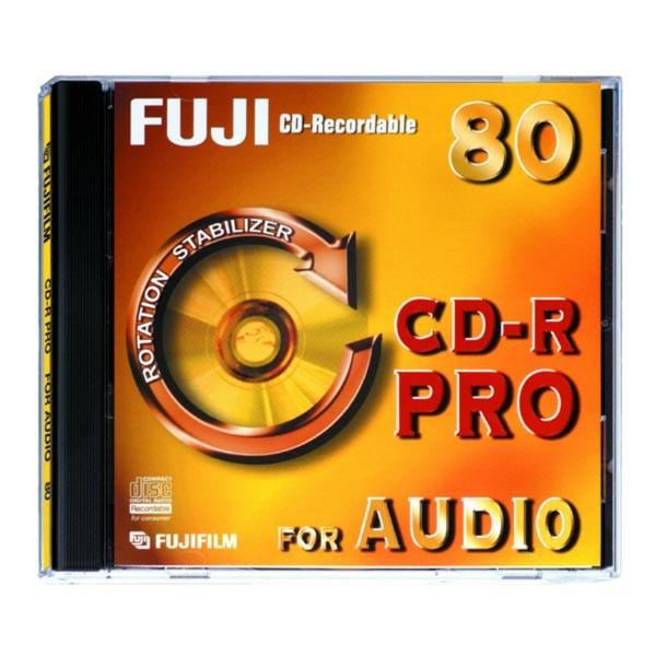 CD-R Audio Fuji Pro 80 min Caja Jewel pack 10 uds