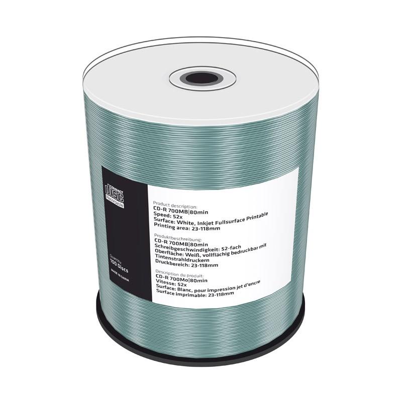 CD-R Mediarange 52x Inkjet FF Printable Tarrina 100 uds