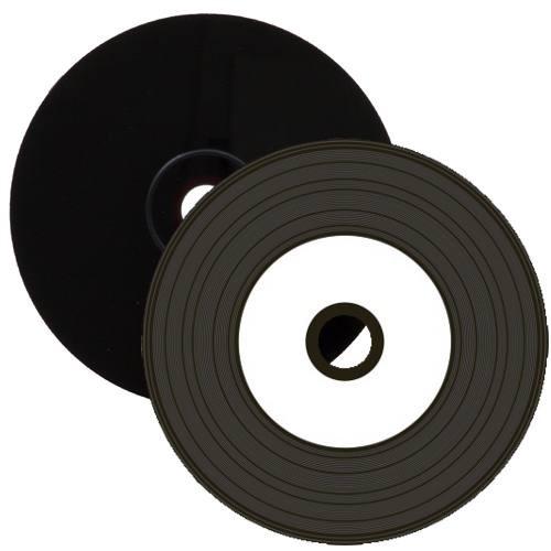 CD-R 52x MediaRange Black Vinyl Inkjet Printable Tarrina 50 uds