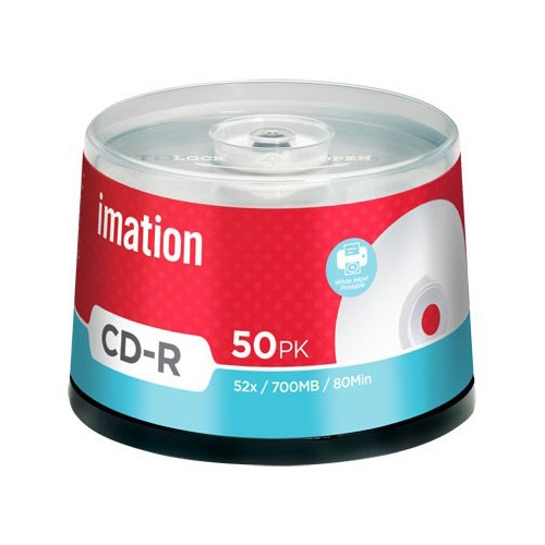CD-R 52x Imation Inkjet FF Printable Tarrina 50 uds