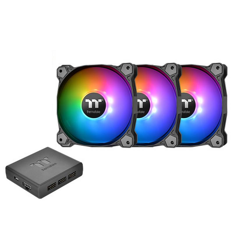 VENTILADOR 120X120 THERMALTAKE PURE PLUS 12 RGB TT 3-UDS