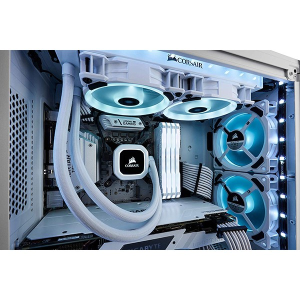 Ventilador PC LED Corsair LL120 RGB Dual Loop 120mm Blanco