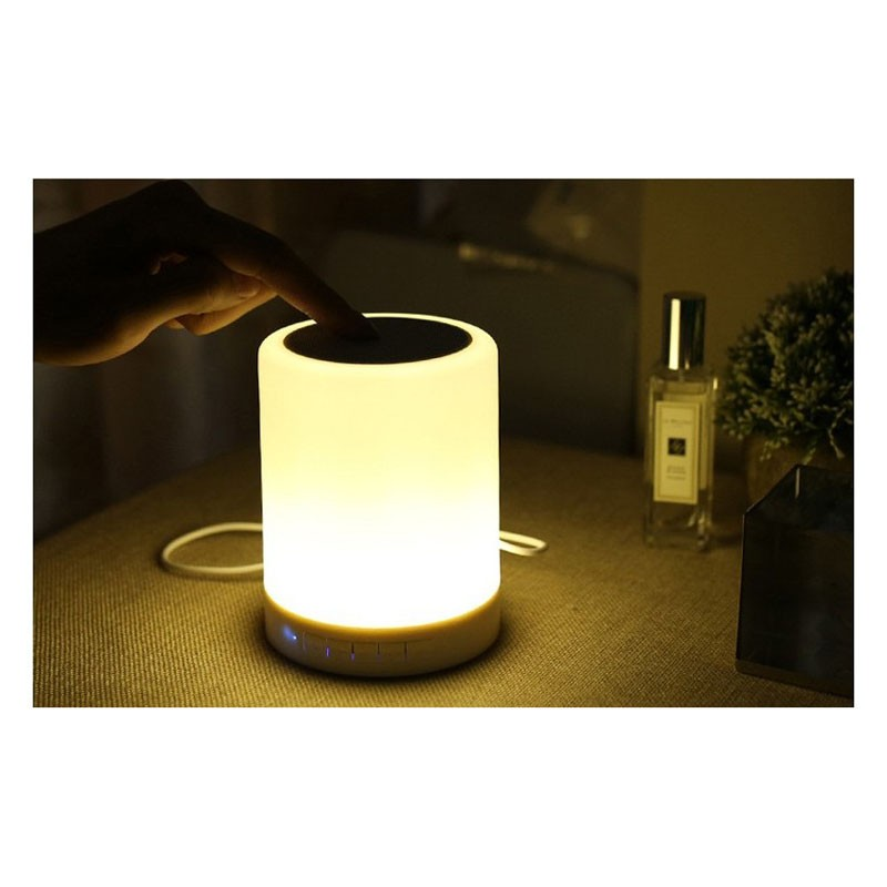 Lámpara Táctil con Altavoz Bluetooth CoolBox COO-BTALED-R1