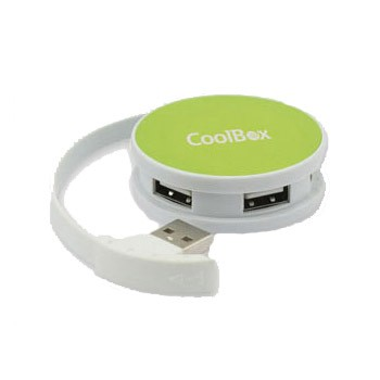 HUB 4 Puertos USB 2.0 CoolBox Smart Verde
