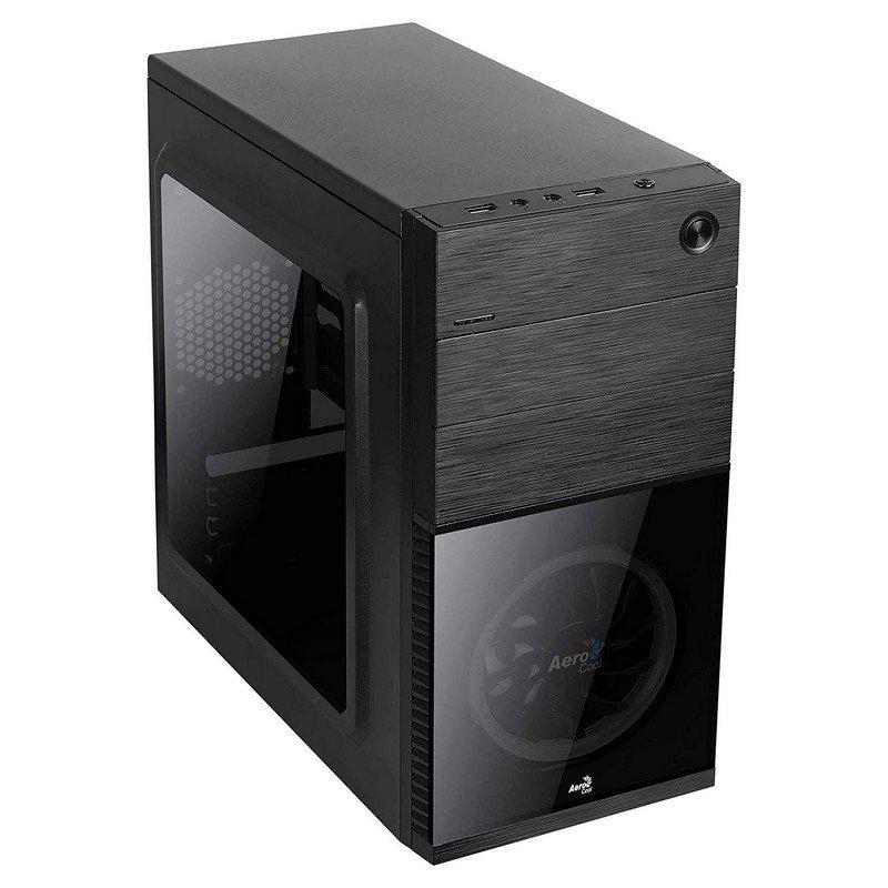 Caja PC Semitorre ATX AeroCool CS-105 Negra/Roja