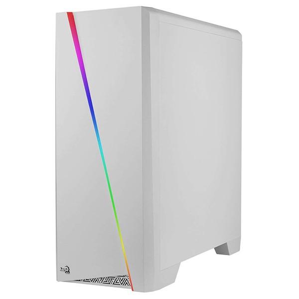Caja PC ATX Aerocool Cylon RGB Con Ventana Blanca