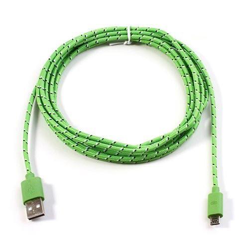 cable-cargador-usb-a-microusb-de-nylom-verde-3mtrs