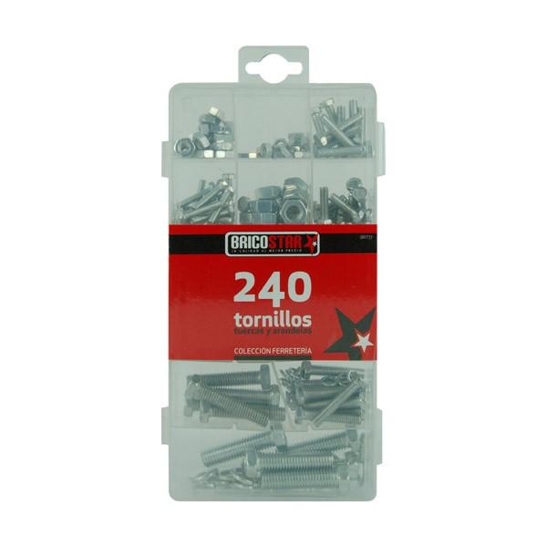 Caja con 240 Tornillos - Tuercas - Arandelas Bricostar