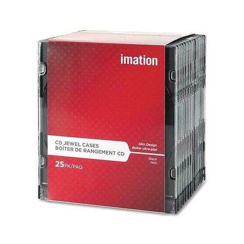 Imation Caja CD Slimcase Bandeja Negra Pack 25 ud