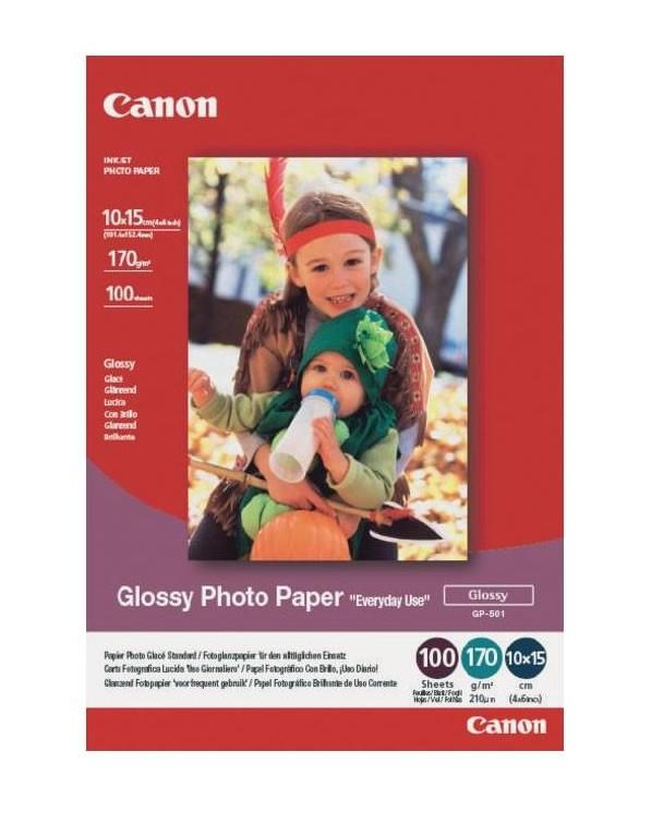 Canon Papel Fotografico GP-501 Glossy 10x15cm 100 Hojas