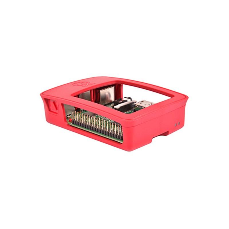 Raspberry Caja Oficial para Pi 3 y Pi 3 Modelo B Blanco/Rojo