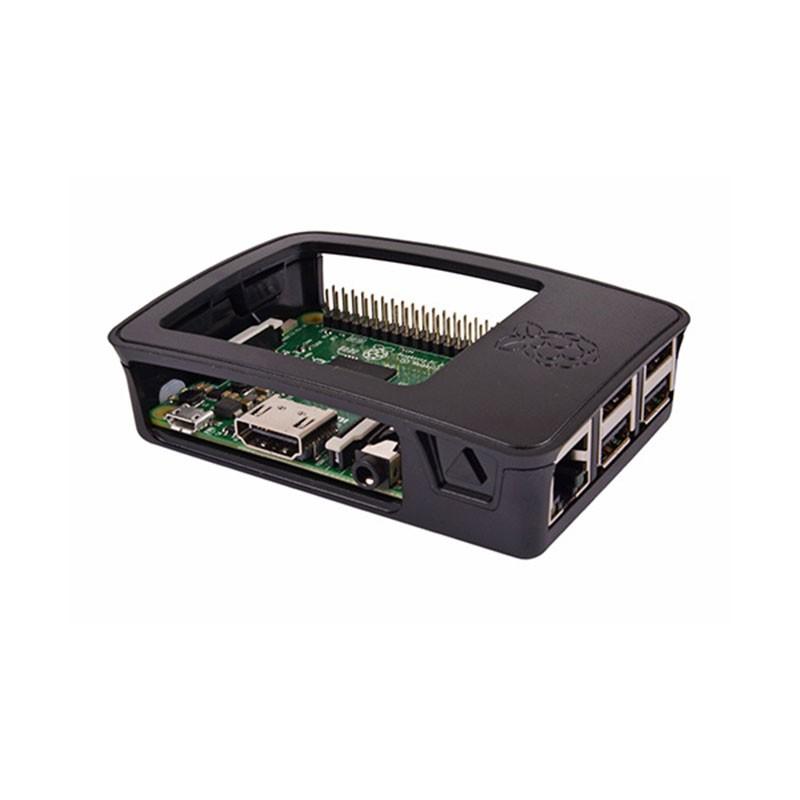 Raspberry Caja Oficial para Pi 3 y Pi 3 Modelo B Negro/Gris