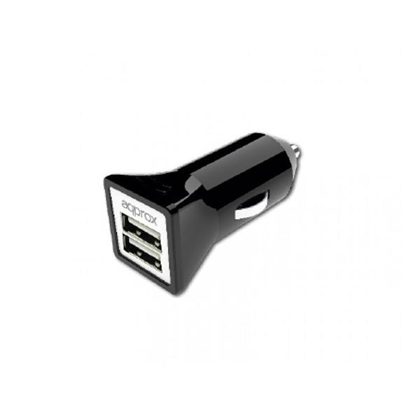 Cargador de Coche (2 x USB) Approx APPUSBCAR31B