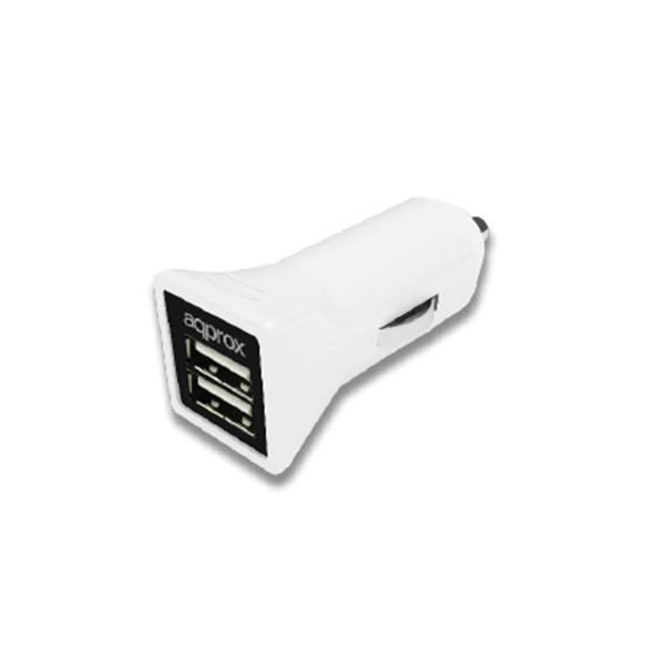 Cargador de Coche (2 x USB) Approx APPUSBCAR31W