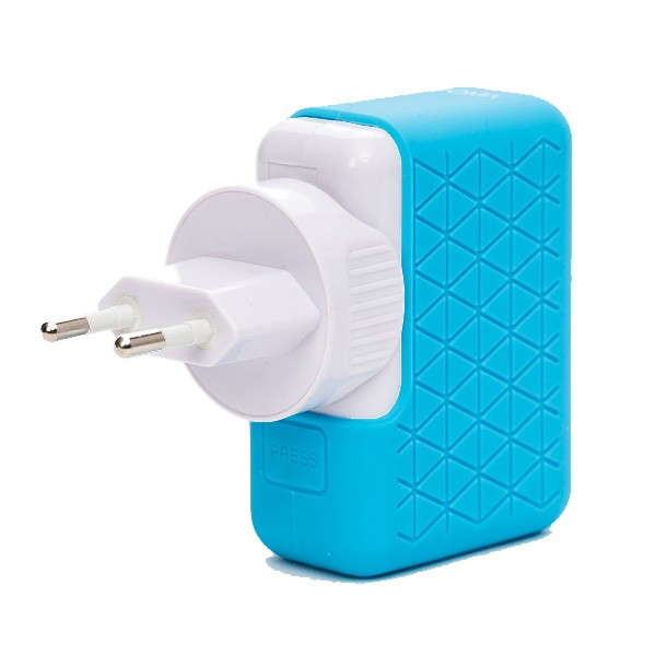 Cargador USB de Pared Bluestork (4 x USB) Azul