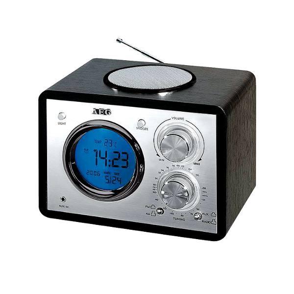 classic am fm radio alarm clock aeg mr4104 black buy now. Black Bedroom Furniture Sets. Home Design Ideas