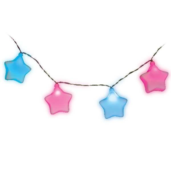 Tira de 8 Estrellas LED de Colores (1.9m)