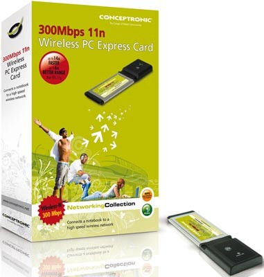 Conceptronic Tarjeta PC Express inalambrica C300EXC 300 Mbps