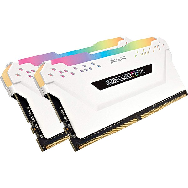 Kit Memoria Corsair Vengeance RGB PRO WHITE 16GB DDR4 3200MHz C16 (2x8GB)