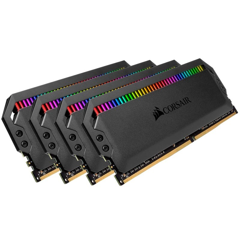 Kit Memoria Corsair Dominator Platinum RGB 32GB DDR4 3600MHz (4x8GB) C18