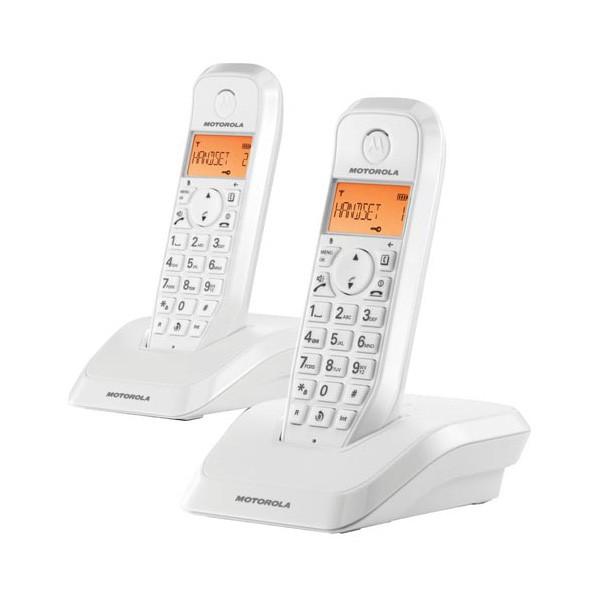 Telefono Inalambrico Motorola S1202 Duo Blanco