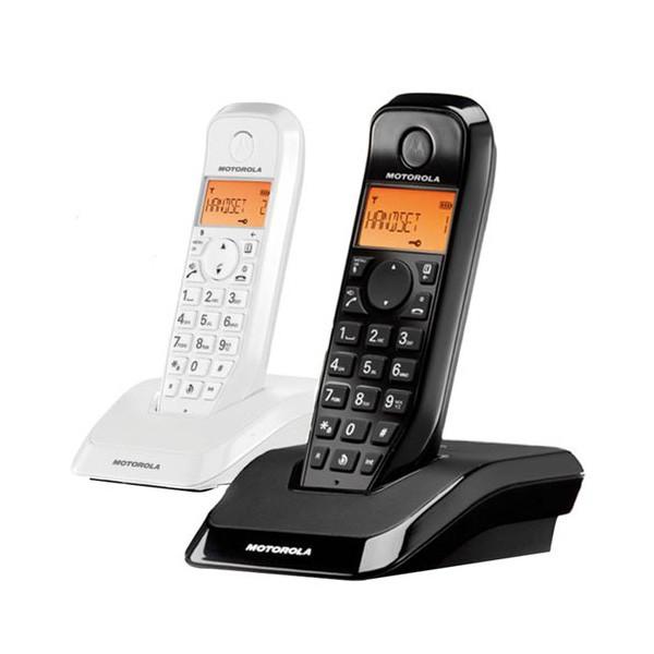 Telefono inalambrico motorola s1202 duo blanco y negro