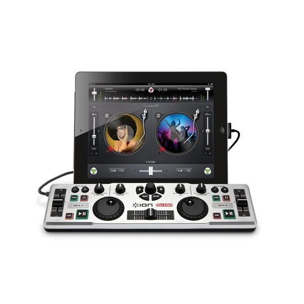 Dj mezclador de audio ion idj 2 go ipad/iphone/ipod touch
