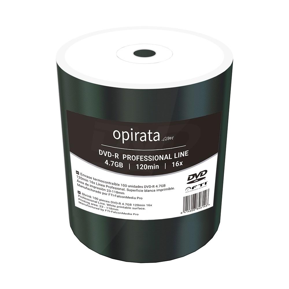 DVD-R 16x Opirata FF Printable Bobina 100 uds (By FalconMedia)