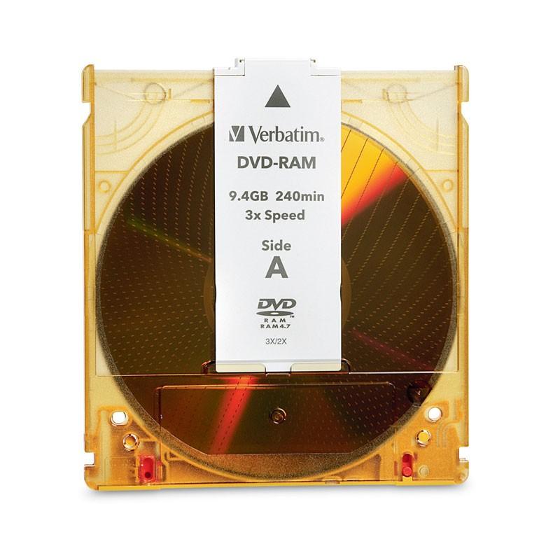 DVD-RAM 9.4GB DS 3x Verbatim Cartucho T4 (Remov) pack 5 uds
