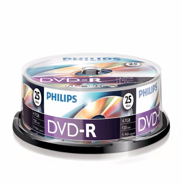 DVD-R 16X Philips DM4S6B25F Tarrina 25 uds