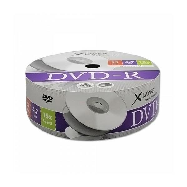 DVD-R 16X Xlayer Bobina 25 uds