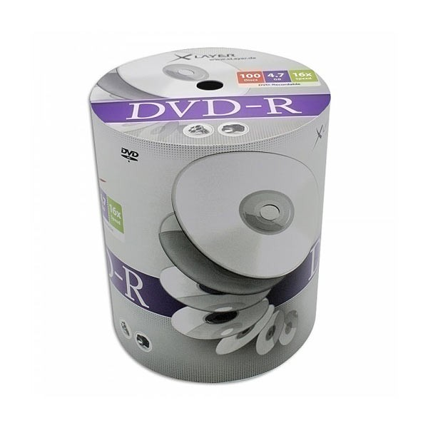 DVD-R 16X Xlayer Bobina 100 uds