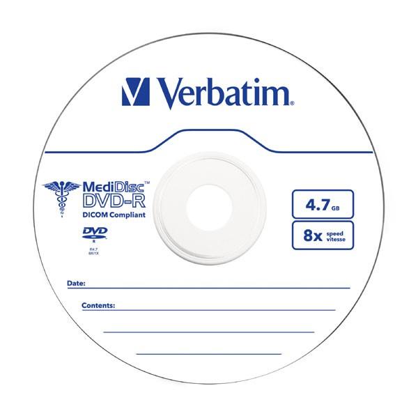 DVD-R 8x Verbatim MediDisc Caja Jewel pack 10 uds