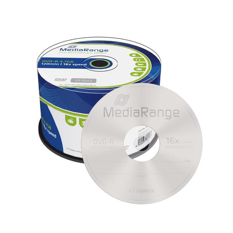 DVD-R 16X MediaRange Tarrina 50 uds