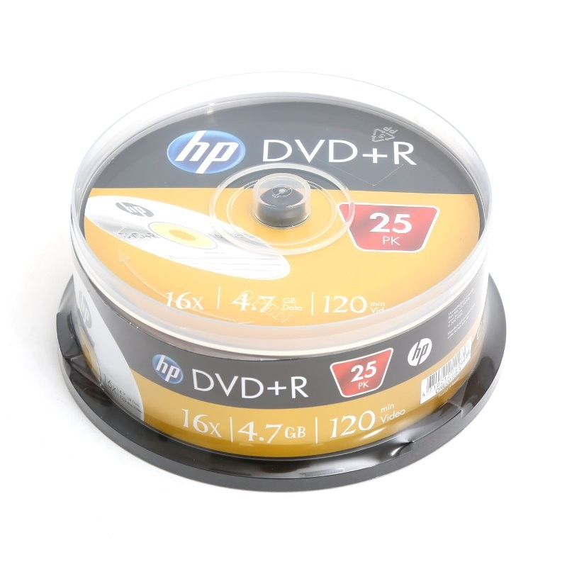 DVD+R 16x HP Tarrina 25 uds
