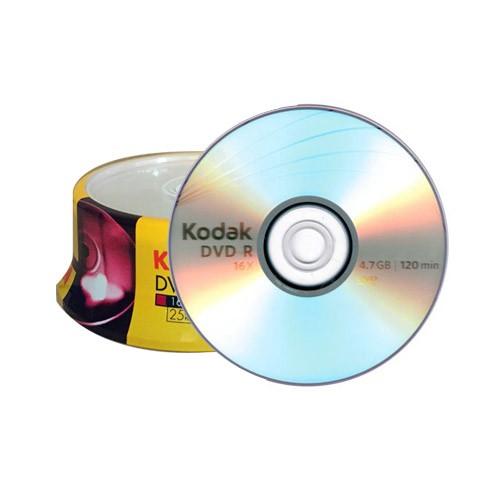DVD+R 16X Kodak Tarrina 25 uds (1310325)