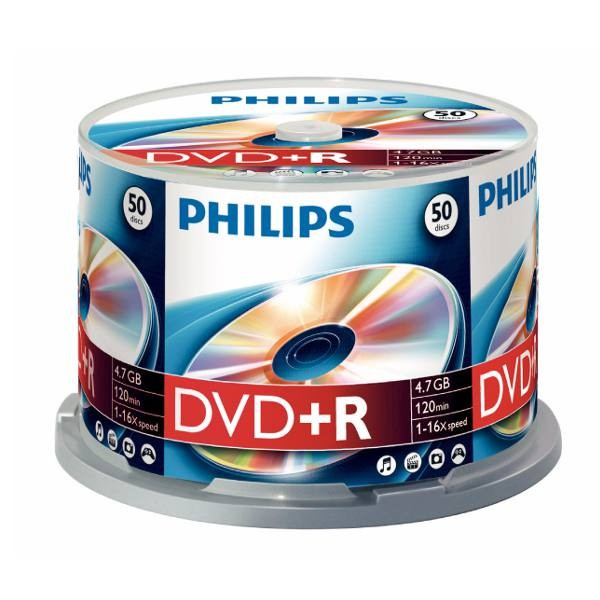 DVD+R 16x Philips Tarrina 50 uds
