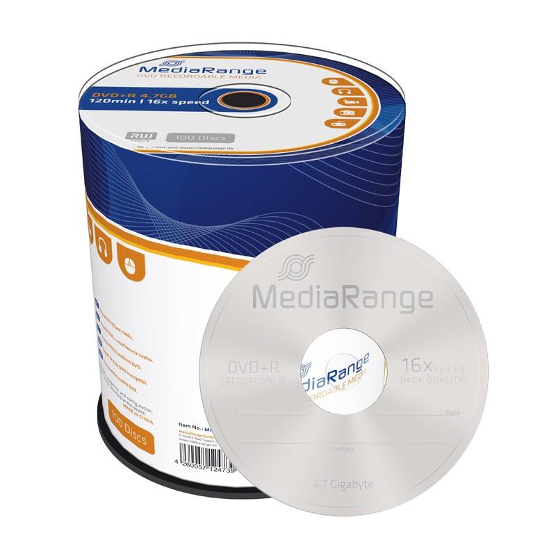 DVD+R 16x MediaRange Tarrina 100 uds