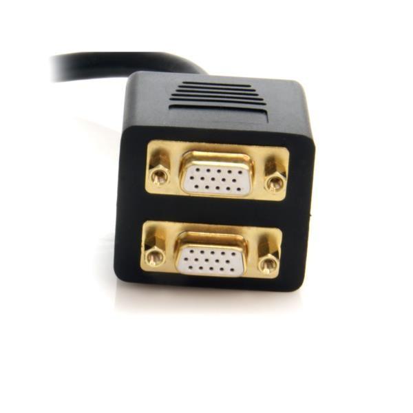 Cable Duplicador Video DVI-I a 2 Puertos VGA
