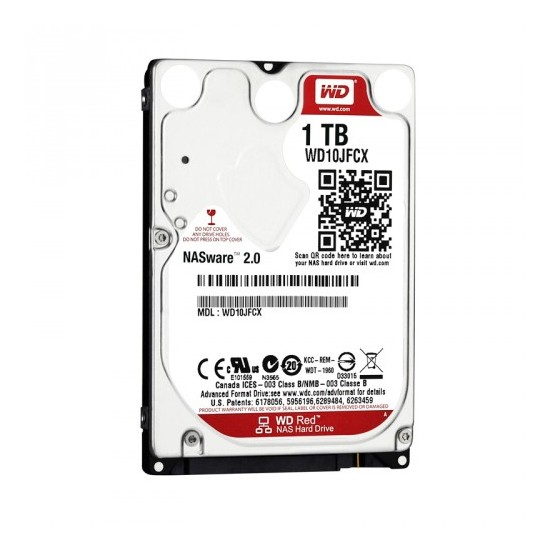 2.5` disco duro 1tb wd nas red wd10jfcx sata3 16mb