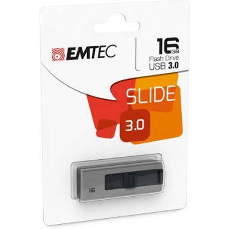Pendrive 16GB Emtec B250 Slide USB 3.1