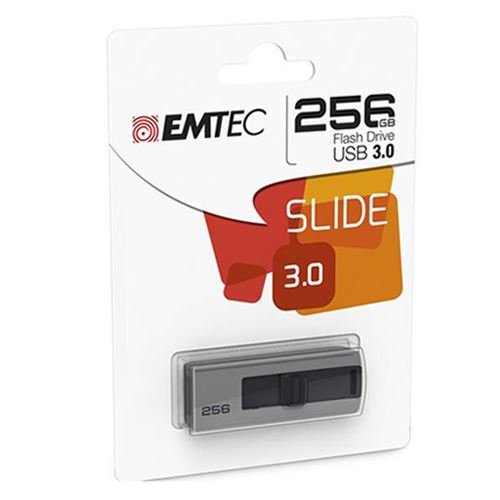 Pendrive 256GB Emtec B250 Slide USB 3.0