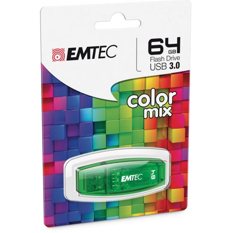 Pendrive 64GB Emtec C410 Color Mix